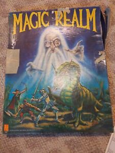 Vintage Avalon Hill Magic Realm Board Game Unpunched Used Incomplete