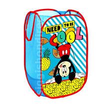 DISNEY Mickey Bambini Camera Da Letto Pieghevole Pop Up Storage Cesto per biancheria Borsa Bin giocattolo