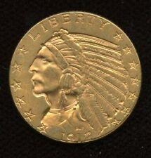 1912 USA Indian $5 Half Eagle Gold Coin