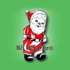 Santa Claus Stuffed Doll Toy #1 ~ Vintage Christmas Pattern