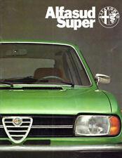 Brochure Depliant Alfa Romeo Alfasud Super 1978 Italiano 28 pagine