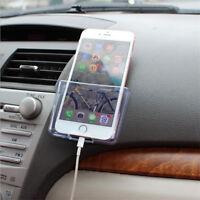 1x Car Accessories Organizer Storage Box Cell Phone Transparent Holder Durable