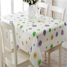 PVC Table Cloth Plastic Waterproof Dining Tablecloth Cover Overlay Home Decor