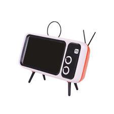 Portable BT Bluetooth Speaker TV Design Mobile Phone Holder FM Radio Retro 90 S