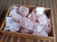 "1lb Natural Rose Quartz Rough Lot 1""-2"" Stones Reiki Yoga US SELLER"