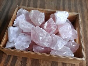 "1lb Natural Rose Quartz Rough Lot 1""-2"" Stones Reiki Yoga Pink Rock US SELLER"