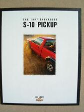 1997 CHEVROLET S10 DEALER SALES BROCHURE