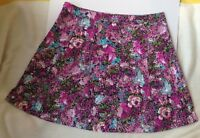 Lane Bryant A Line Skirt Purple Green Black Abstract Floral Womens Plus Size 24