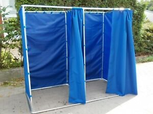 Doppel Umkleidekabine 2x1m Testkabine Impfkabine Ankleidekabine