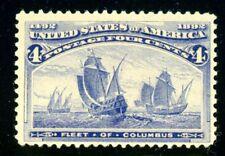USA  #233  4-CENT COLUMBIAN MINT VLH FRESH APPEARANCE