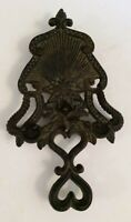 "Vintage Trivet Cast Iron Hot Plate Rustic Farmhouse Kitchen Bright Star 9"" Tall"