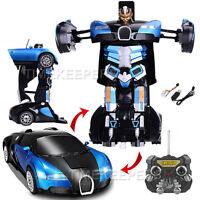 2.4Ghz Bugatti Veyron Transformers RC Radio Remote Control Drifting Robot Car OR