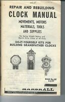 MG-013 - Marshall Clock Repair and Rebuilding Supply Catalog # 625, 1950's to 19