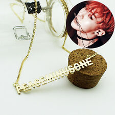 G-Dragon GD bigbang BB Gold NECKLACE KPOP GOODS NEW X2036