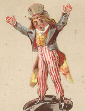 PEORIA, IL,  UNCLE SAM, KING'S QUICK RISING BUCK WHEAT FLOUR  TRADE CARD  K1001