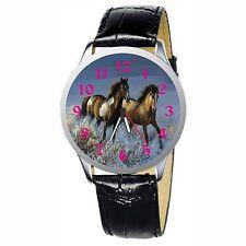 Running Horse Stainless Wristwatch Wrist Watch