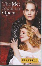 Der Rosenkavalier Playbill Metropolitan Opera Renee Fleming Elina Garanca