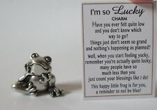 A I'm so lucky FROG mini Pocket FIGURINE CHARM count your blessings Ganz happy
