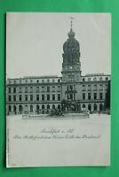 Hessen 3) AK Frankfurt am Main 1900er Posthof Kaiser Wilhelm-Denkmal Gebäude