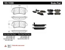 Ceramic Disc Brake Pad Set-C-TEK Ceramic Brake Pads Rear Centric 103.14300