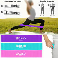 Resistance Loop Bands Home Gym Fitness Exercise Glutes Leg Arm Yoga Pilates Band
