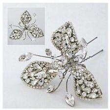 Crystal Encrusted Flower Hairpin
