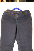 Isaac Mizrahi Live! 24/7 Denim Straight Leg Jeans 14 GREY PETITE