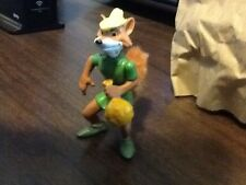 Disney's Vintage Robin Hood PVC Toy Figure Cake Topper w/ Fur Tail