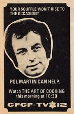 1973 CFCF TV AD~POL MARTIN HOSTS THE ART OF COOKING~MONTREAL QUEBEC,CANADA