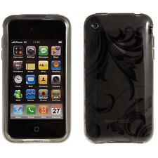 Silikon TPU Schutzhülle Apple iPhone 3G / 3GS Ranke Muster Grau