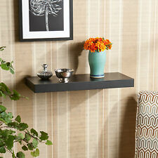 "JWS24527 2PCS 1 PAIR BLACK 24 "" WALL MOUNT FLOATING SHELF SET"