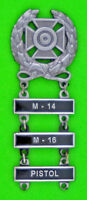Army Expert Marksmanship Badge M-14, M-16, PISTOL Qualification Bars