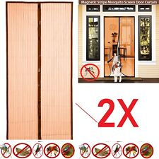 2X MAGIC Magnetic Insect Door Net Screen Mosquito Fly Bug Mesh Guard Curtain MQ