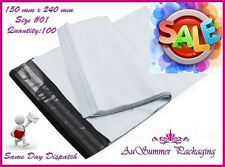 100 #1 150 x 240mm Poly Mailer Mailing Plastic Shipping Satchel Post Bags SALE!