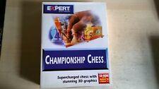Meisterschaft Chess-seltene 1997 Expert Software PC Spiel-Original Big Box Edition