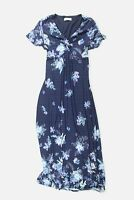 Womens Marks & Spencer - Per Una blue floral maxi summer dress Size 14