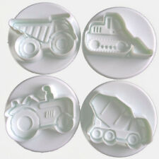CONSTRUCTION TRUCKS cookie cutter biscuit mould baking cake decoration - Set
