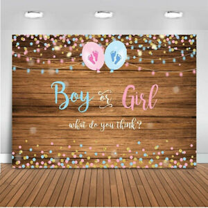Boy Or Girl Gender Reveal Backdrop Baby Shower Background Party Photography Prop