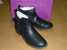 (Size 9) Rampage Jordan Women's Black Leather Zip Up / Buckle Ankle Boots