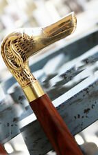 walking stick vintage antiqe look nautical designer dog brass handel cane
