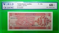 MONEY NETHERLANDS ANTILLES 1 GULDEN 1970 DUTCH ADMINISTRATION GEM UNC PICK # 20a
