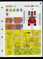 Kubota M6-101/111/131/141 Tractor Factory Laminated Maintenance Chart Fluids