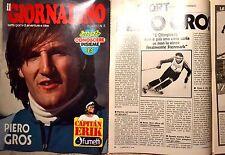 PIERO GROS articolo + copertina da Il Giornalino 1970/'80 SCI