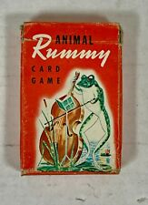 Vintage ANIMAL RUMMY CARD GAME - Whitman Publishing #3012