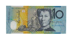 2002 Macfarlane/Henry $10 Ten Dollar GL Last Prefix Note - UNC, R.320aL D8-118