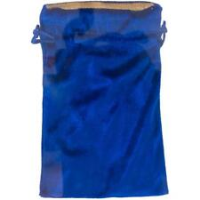 5x8 Inch Blue Velveteen Tarot Bag with Gold Lining!