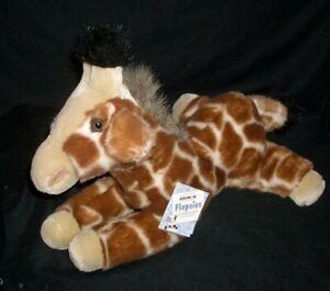 "12"" AURORA WORLD FLOPSIES BABY TAN GIRAFFE STUFFED ANIMAL PLUSH TOY SOFT W TAG"