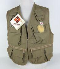 NEW Vintage Columbia XL Fishing Hunting Deschutes Vest Multiple Pockets Beige