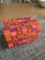 RECIPE BOX VTG syndicate Metal Tin Recipe Box