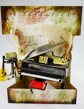 Classical Piano  Greeting Card 3-D  Swing Card by Santoro Graphics 165
